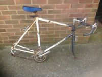 Vintage Raleigh Road Bike without wheels (Spares or Repairs )