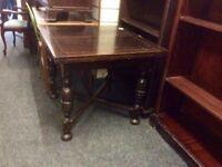 Vintage oak extending dining table