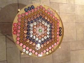 Beer lid tray table