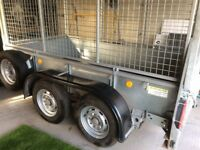 Ifor Williams gd84 trailer with mesh sides 8x4