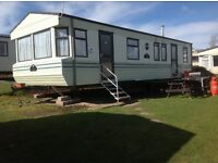 STATIC CARAVAN FOR HIRE FROM SAT 1/10/16 7 nts £199 AT DEVON CLIFFS EXMOUTH IN DEVON