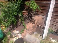 Concrete roof tiles, 265x165, used, approx 300/350. Buyer collects