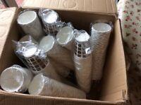 500 x MOCHA 10oz PAPER CUPS. Still in wrappers.