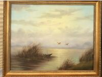 Original Oil Painting - 'The Old Boat' by H Wijsman