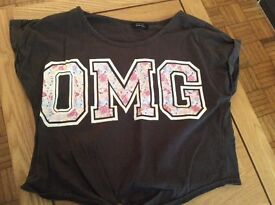 Girls age 11-12 short sleeved top.