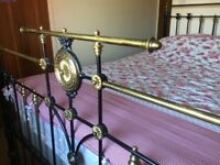Genuine Victorian Antique 6ft Superking Bed & Mattress