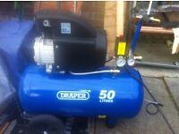 Draper 50L 1.5kW (2.0HP) air compressor, BRAND NEW NEVER USED