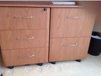 Under Desk pedestal Tables 2 Drawer Filing and 3 Drawer