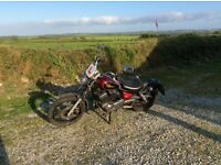 125 cc Yamaha Virago 1999, 12 months MOT. Reliable and well maintained. 40000 miles.
