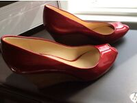 Clarks Ladies Red Shoes size 6UK