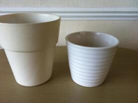 Plant pots indoor new and wooden tee lights