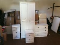 4 piece white bedroom furniture 6months old in great condition