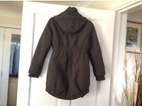 GIRLS KHAKI FREE SPIRIT PADDED JACKET 9-10 YEARS. EX. CONDITION.