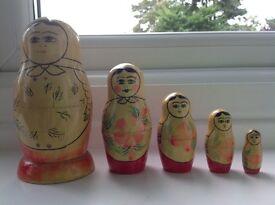 ***Reduced further *** Traditional Matryoshika Russian Folk Art Nesting Dolls