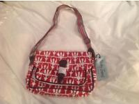 Nicky James satchel bag bnwt red squirrel primt
