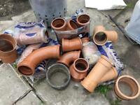 Drainage pipes etc