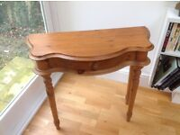 Antique pine hall table