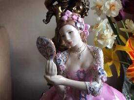 Royal Doulton figure mirror mirror
