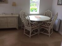 Angraves cream dining table & chairs