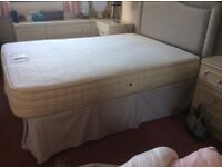 Double bed. four drawer divan