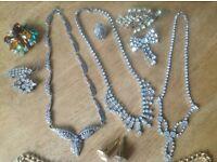 Costume jewellery job lot.