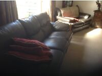 Brown Leather Suite Reclining