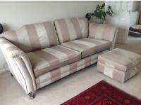 Three seater sofa and footstool/storage box