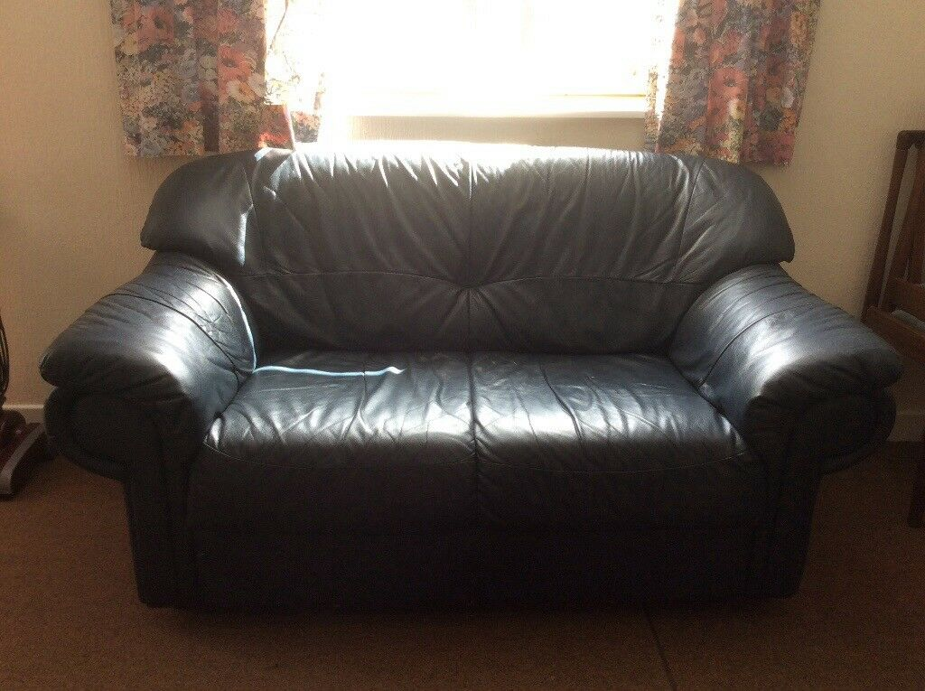 2 X Navy 2 Seat Sofas In Alford Aberdeenshire Gumtree