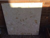 Marble Hearth & Backplate
