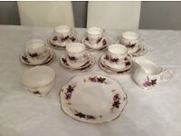 Duchess. Bone china floral pattern 313 teaset..21 piece