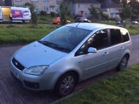 Ford Focus 1.8 c-max GHIA, MVP, 125BHP manual, fault with car, still starts and drives. Plymouth