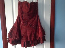 Red party dress or for a wedding