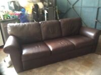 3/4/seater Natuzzi brown Leather settee in very good condition