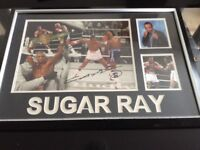 Large Signed photo of Sugar Ray, superb picture with certificate