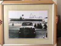 Duncan Mackenzie , original signed picture jumping over mini