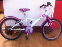 "Girls bike - fully refurbished Btwin - 20"" wheels, 6-speed, mudguards"