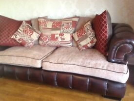 As new 3 seater sofa and swivel tv chair
