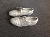 SIlver Tap Shoes Size 13