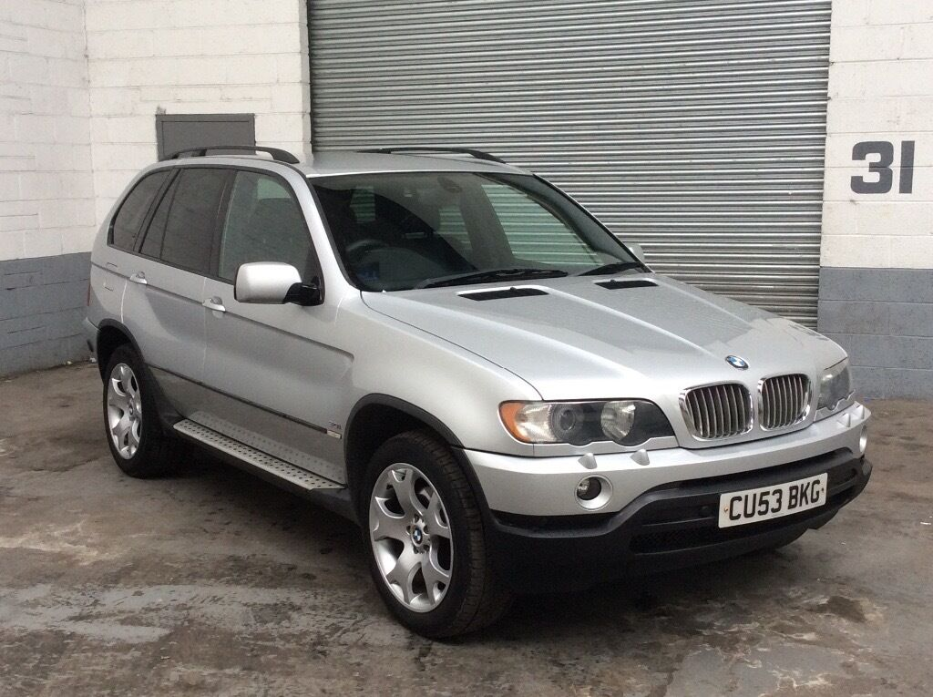 bmw x5 sport auto 2003 53 metallic silver with full black leather sat nav 3 0 petrol lpg gas. Black Bedroom Furniture Sets. Home Design Ideas