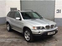 BMW X5 SPORT AUTO 2003/53 METALLIC SILVER WITH FULL BLACK LEATHER SAT NAV 3.0 PETROL LPG/GAS SYSTEM