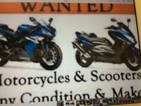 Motorbike scooter or quad wanted cash or b/t waiting will collect.