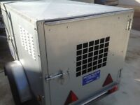 Bronnis 5x3 dog trailer as new