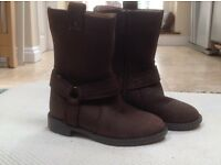 Beautiful Brown Suede boots. Brand New by M&S. size 6