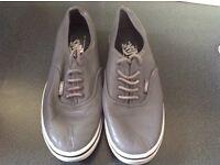 Vans grey size 4