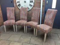John Lewis Set Of Four 'Luxury' Dining Chairs.