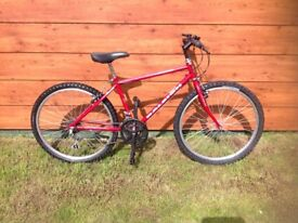 Red Raleigh Powerblade Bike