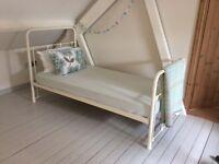 John Lewis painted metal single bed / bedstead