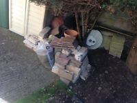 Selection of bricks, slabs, pavers and roof tiles