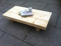 SUPER chunky coffee table solid heavy HANDMADE FROM reclaimed wood shabby chic rustic look tv stand