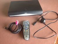 SKY+ HD box with remote, HDMI cable and SKY mini-wireless connector box